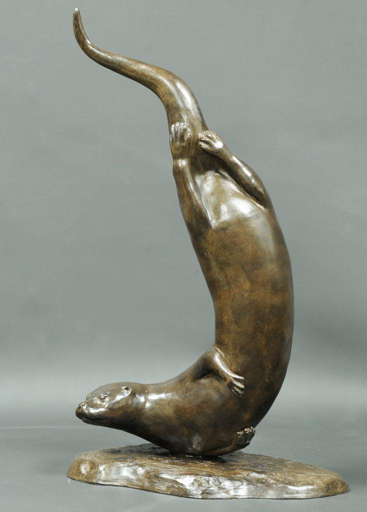 Carl Newman diving otter