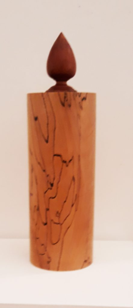 Richard Chapman 280 Spalted Beech Vessel with Monkey Puzzle Stopper